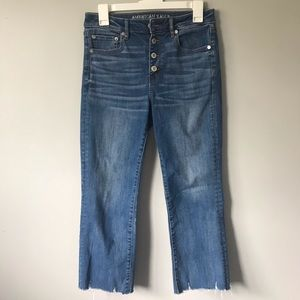 American Eagle Size 8, Cropped Skinny Jeans